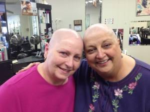 Lana and Sharon heads shaved