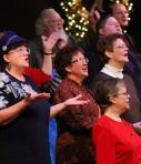 choir leading worship singing